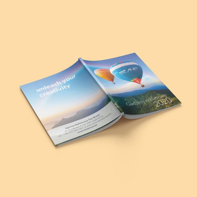Projekt graficzny okładki katalogu agencji reklamowej The Brand