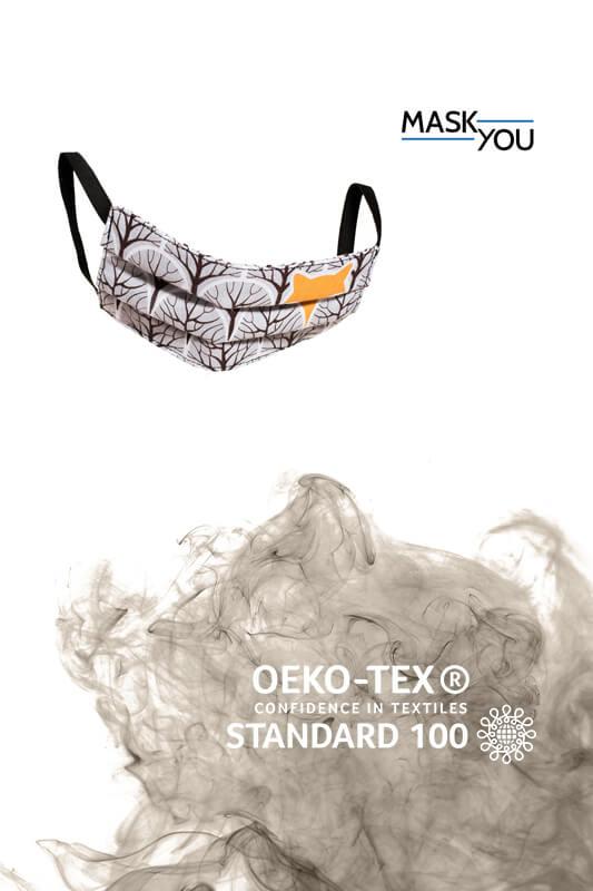 Grafika i zdjęcie produktowe maski dla biegaczy