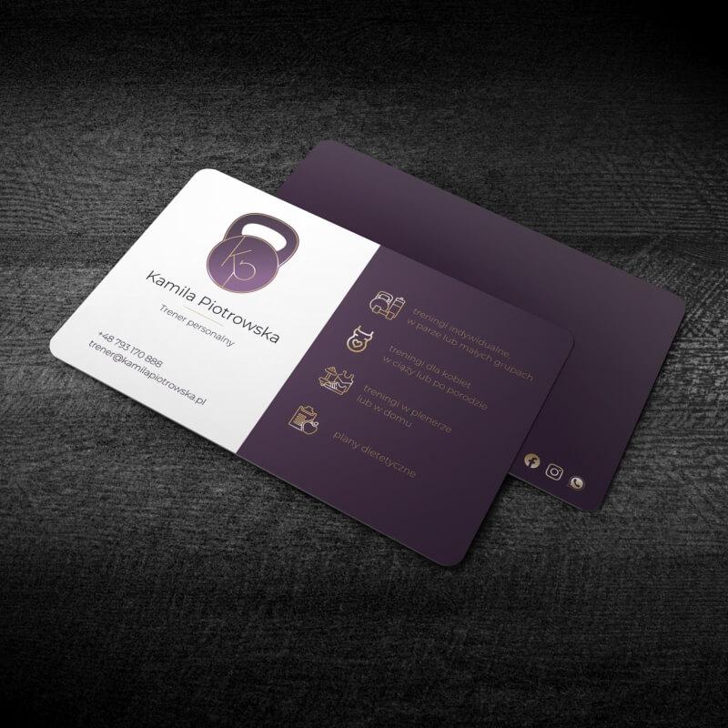 Wizualizacja awersu projektu wizytówki