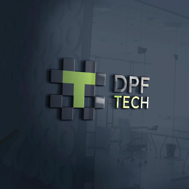 Wizualizacja przestrzenna LOGO firmy DPF Tech