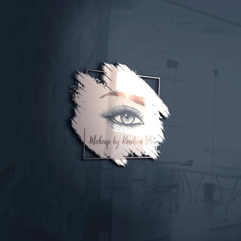 Wizualizacja 3d projektu LOGO dla wizażystki