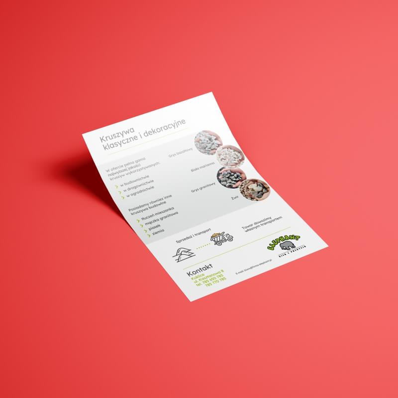 Ulotka prezentująca ofertę kamieni ozdobnych firmy Elephant